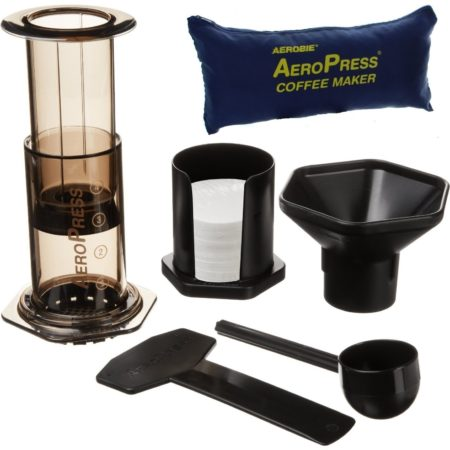 Aerobie Aeropress Coffee Maker With Tote Carry Bag Set
